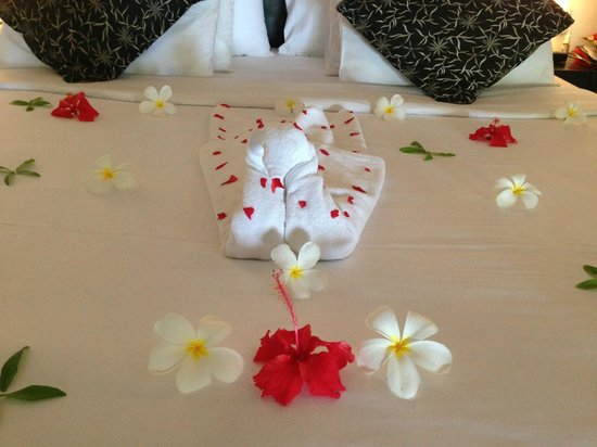 They decorated our bed so beautifully with flowers, this kind gesture really touched us