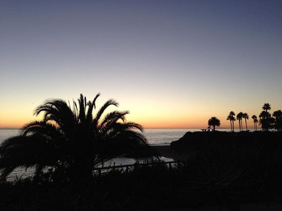 Montage Laguna Beach: View from the Hotel Bedroom at sunset