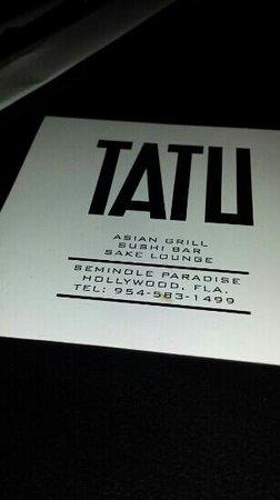 Tatu Asian Bar and Grill: TATU