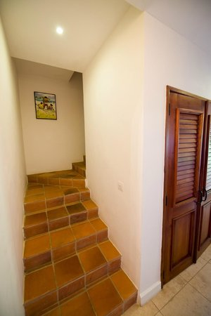 Cap Maison: Stairs leading to master bedroom