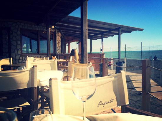 Ristorante Papeete : Great view at the beach