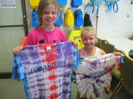 EcoVentures : Custom tie-dye t-shirt creations