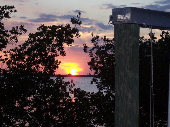 Hyatt Coconut Plantation: sunset at the boat ramp