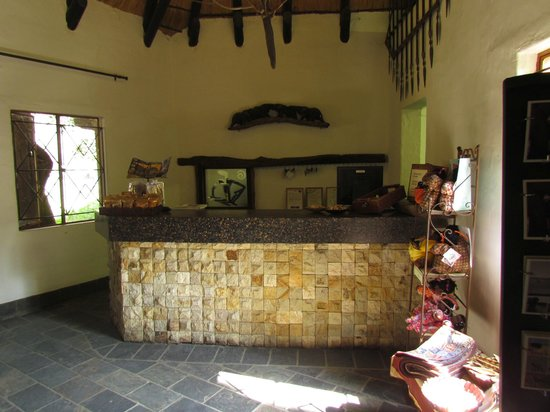 Namushasha River Lodge: Rezeption