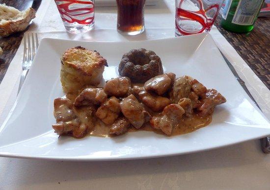 Hotel Restaurant La Pomme d'Or : le ris de veau