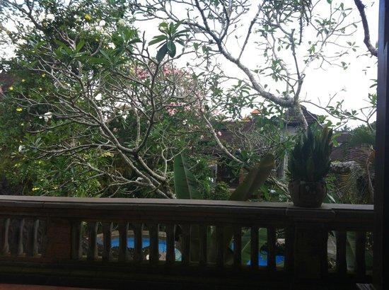 Puri Saraswati Bungalows : vue de la terrasse