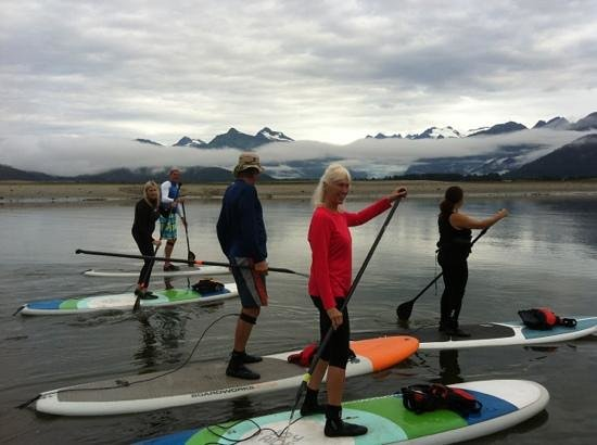 Douglas, อลาสกา: Paddling in front of Mendenhall Glacier
