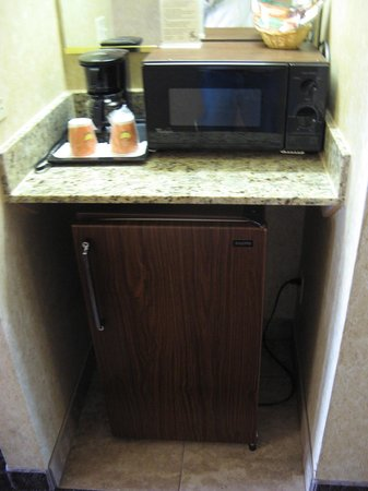 Abbey Inn & Suites: Room 1217 - fridge & microwave
