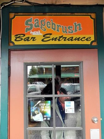 Sagebrush BBQ & Grill: Entrance to the Saloon