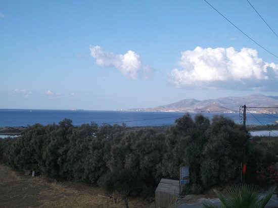Dina Studios: View from terrace over south Paros