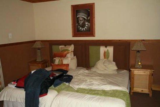 Gooderson Bushlands Game Lodge : HET bed, wordt niet opgemaakt trouwens