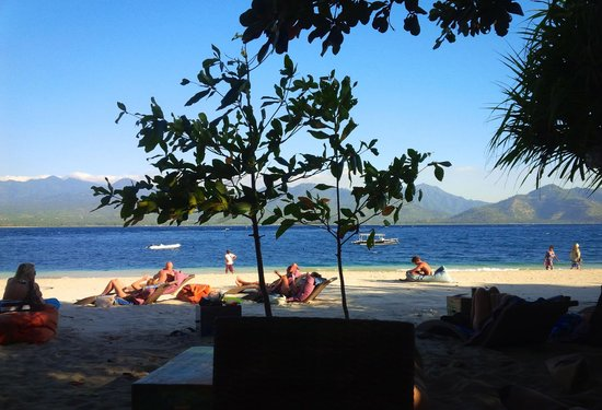 The Beach Club Hotel Gili Air: View from the restaurant
