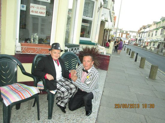 me and my pal colin sitting outside GLENVIEW HOTEL