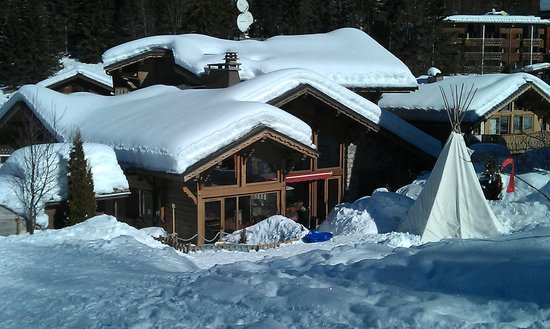 Chilly Powder: Main Chalet from back