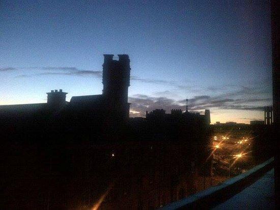 Novotel Edinburgh Centre: Sunrise view from sixth floor room, 19 September 2013