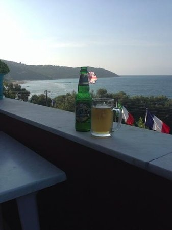 Apraos Bay Hotel: took me ages to put this flag in my bottle