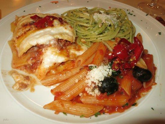 Hotel Restaurant Derby: Ein Tris von Pasta - herrlich
