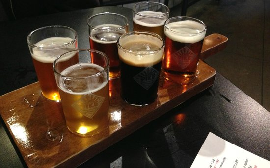 The Pike Pub and Brewery: Beer Flight