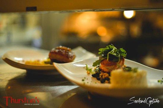 Thurston's Bistro & Lounge: pork belly, salmon