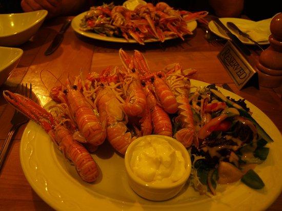 Port Charlotte Hotel: Delicious Langoustines