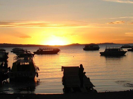 Hotel Gloria Copacabana: VIsta Titicaca