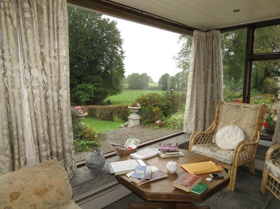 Lough Owel Lodge: the view from the lovely sitting room