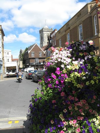 Salisbury & Stonehenge Guided Tours: Flowers in downtown Salisbury