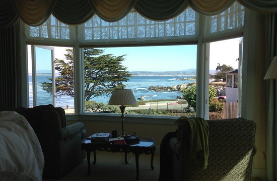 "Seven Gables Inn: View from ""Ocean Mist"" room."