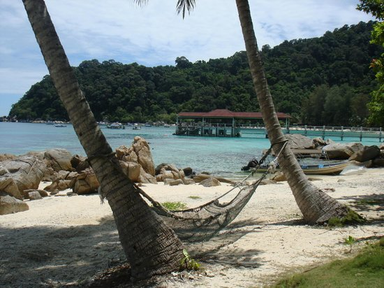 Coral View Island Resort: view from room onto the sea front