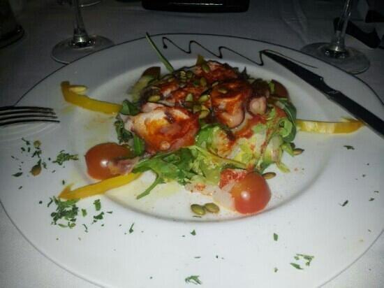 Aquarius: octopus salad