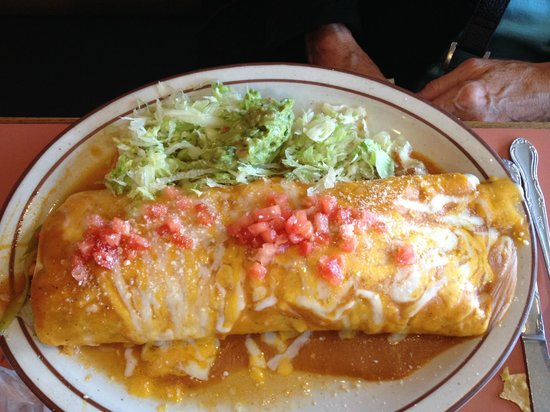 rancho viejo family restaurant: HUGE burrito
