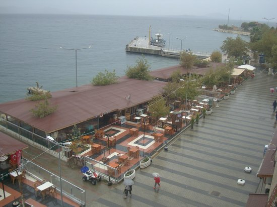 Mermer Otel: the view from the room
