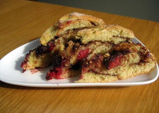 The Dulaig: Hazelnut, Chocolate and Raspberry bread, a breakfast treat