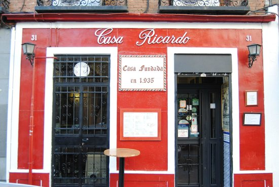 Restaurante Casa Ricardo Madrid : fachada del restaurante