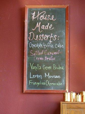 The Copper Hog: Dessert is always a tough choice!