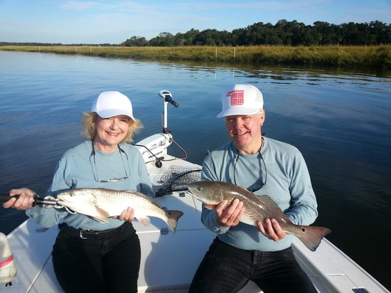 Trout picture of charleston fish rod bending company for Fishing guide charleston sc