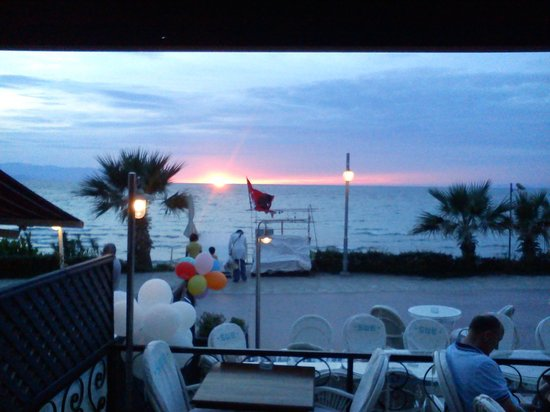 Some Where Else: Sunset at dinner!
