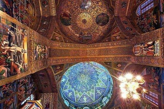 Isfahan Province, Iran : Vang church-Jolfa Isfahan