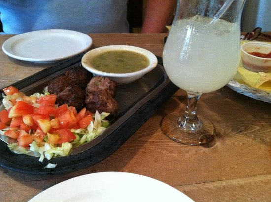 Maria's New Mexican Kitchen: green chili meatballs
