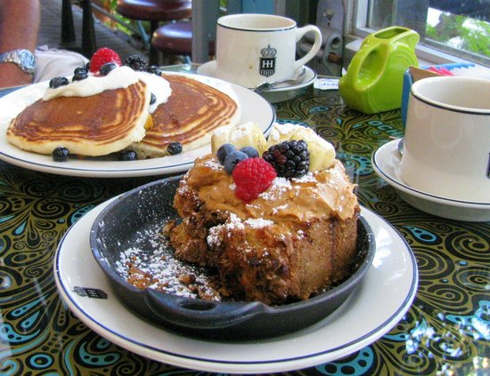 Hotel Havana: Plantain Griddle Cakes and Toasted Banana Bread.  Yum!