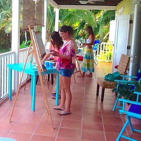 Random Art: Painting Class on the veranda