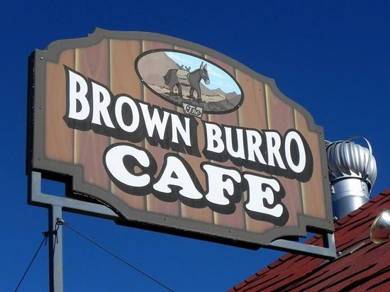 Brown Burro Cafe: Sign