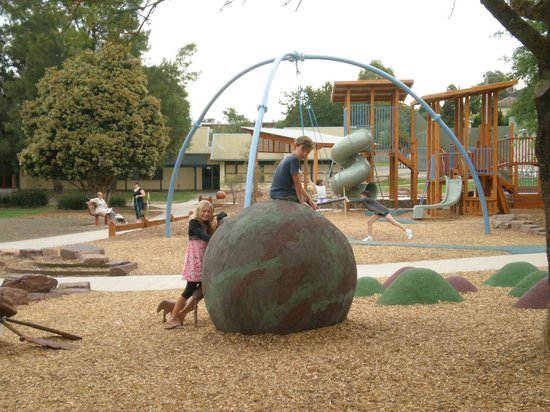 Yarra Glen Adventure Playground, McKenzie Reserve: Rubber mounds to hop to and from.....