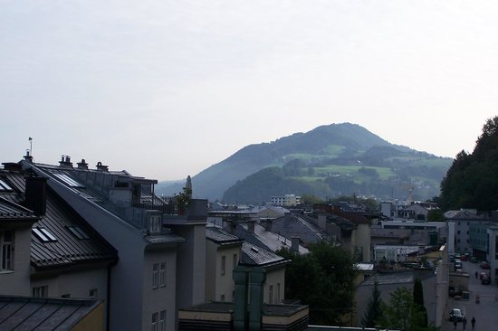 AllYouNeed Hotel Salzburg: view of the city from the roof top lounge
