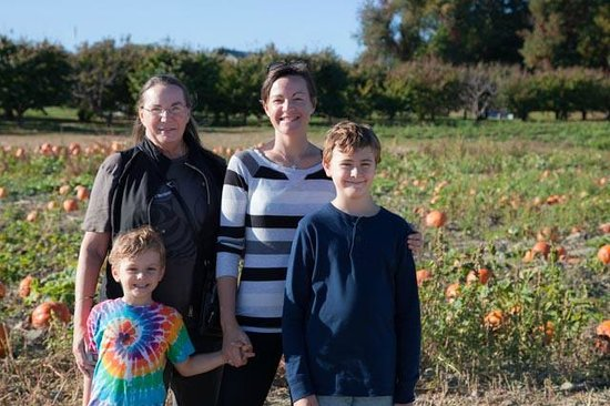 Lawrence Farms Orchards: Standing in the pumpkin patch