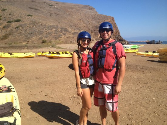 Santa Barbara Adventure Company: Picture of us and our gear- it was nice enough out to not wear a wet suit!