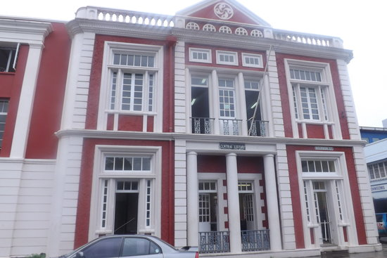 Front of Central Library from Derek Walcott Square in Castries