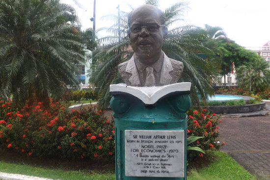 No longer Columbus Square...now Derek Walcott Square. Statue of Sir Aurthur Lewis Nobel Laureate