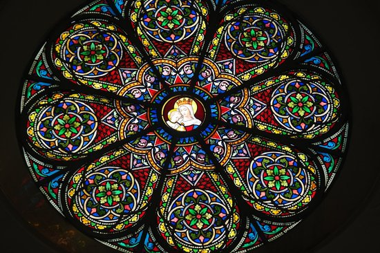 Church of Saints Peter and Paul: Stained Glass - Rose Window