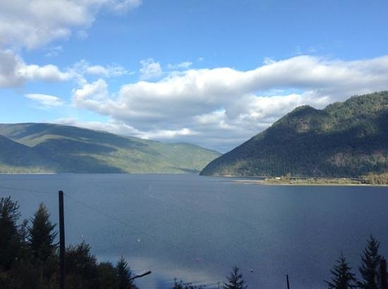Sicamous, Kanada: view from the orange room